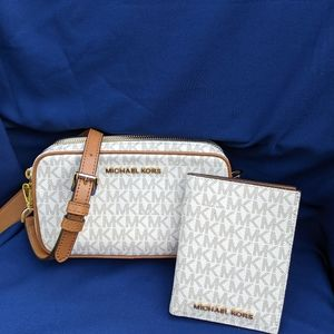 Michael Kors Crossbody Bag &  Passport Wallet Set